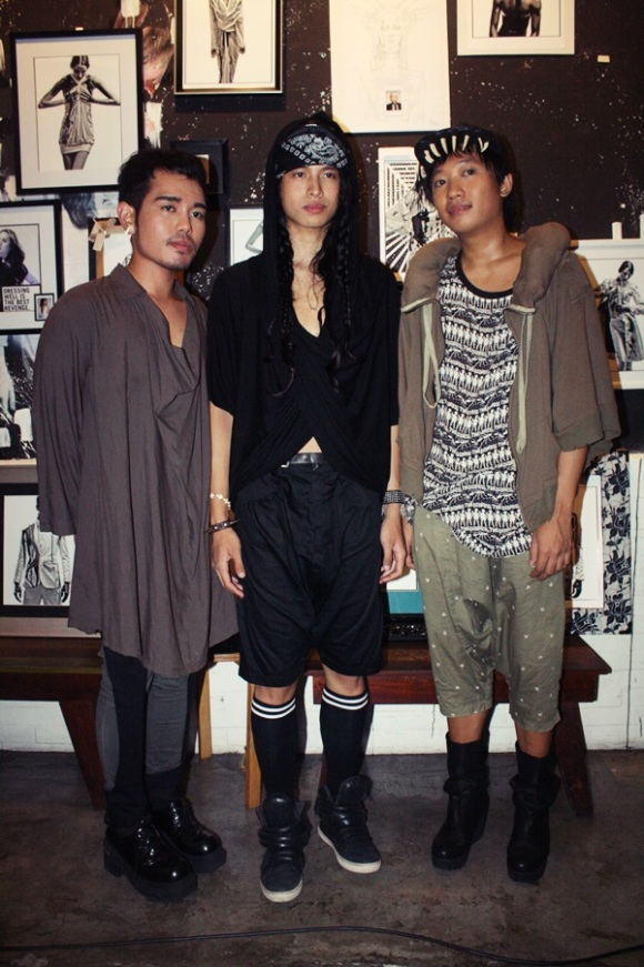 Karl Leuterio and Mike Magallanes for Paradigm Shift with their muse Bruce Venida