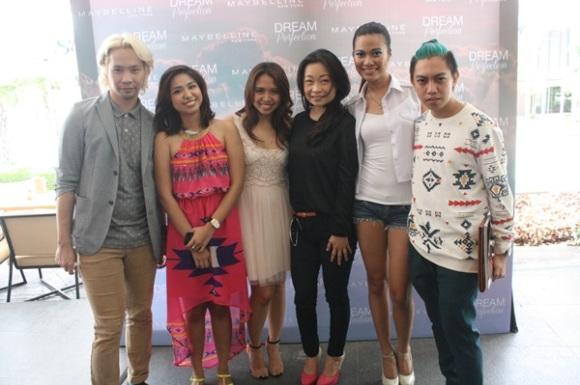 MUA Archie, Ayra Jimenez and Brand Manager Anna Castillo of Loreal, Ivanka Trump Ailene Co, Model Farah Ramos, FashionAteTheLawyer Miguel Alomajan
